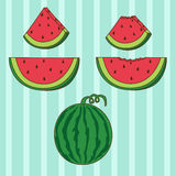 Set of Watermelon Royalty Free Stock Image