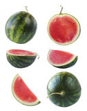 Set of watermelon and slices. Royalty Free Stock Photos