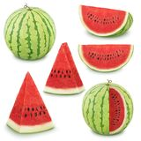 Set of watermelons on a white background. As design elements. Stock Images