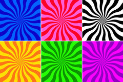 Set of wave background. Set of different colour wave vector background Royalty Free Stock Images