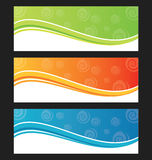 Set of wave background banner or header. Royalty Free Stock Photo