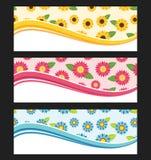 Set of wave background banner or header. Stock Images