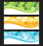 Set of wave background banner or header. Stock Images