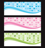Set of wave background banner or header. Stock Photos