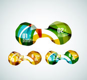 Set of wave business infographics Stock Photo