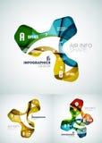 Set of wave business infographics Stock Photos