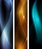 set wave för abstrakt banerdark Royaltyfri Foto