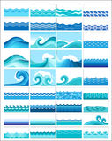 Set of wave illustrations Royalty Free Stock Photo