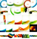 Set of wave layouts Royalty Free Stock Photos