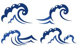 Set of wave symbols Royalty Free Stock Image