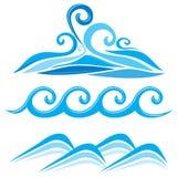 Set of wave symbols Stock Photo