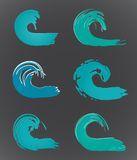 Set of wave. Vector Royalty Free Stock Images