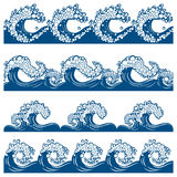 Set from waves Royalty Free Stock Photography