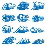 Set of waves Royalty Free Stock Images