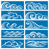 Set of waves Stock Photography