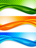 Set of wavy banners Stock Photos