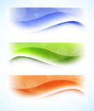 Set of wavy banners Stock Image