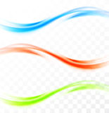 Set of wavy banners Royalty Free Stock Image