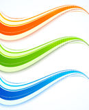 Set of wavy banners Stock Images