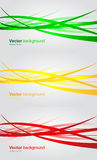 Set of wavy banners. Abstract vector background Stock Images