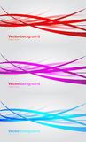 Set of wavy banners. Abstract vector background Stock Photo