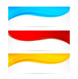 Set of wavy banners Royalty Free Stock Photography