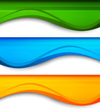 Set of wavy banners Stock Photo