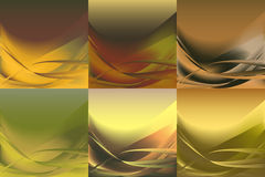 Set of wavy banners horizontal colorful  vector  Royalty Free Stock Images