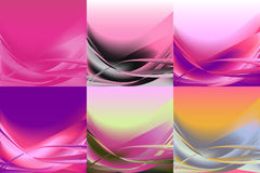 Set of wavy banners horizontal colorful vector Stock Images