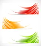 Set of wavy banners Royalty Free Stock Photos