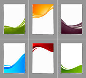 Set of wavy brochures Stock Images