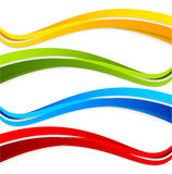 Set of wavy colorful banners Stock Photos