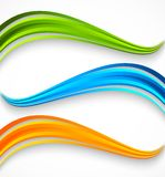 Set of wavy colorful banners. Royalty Free Stock Photography