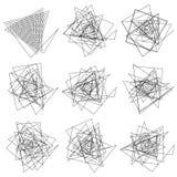 Set of wavy - curvy and zigzag - criss cross horizontal lines Royalty Free Stock Image