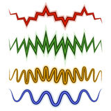 Set of wavy lines. Vector graphics Royalty Free Stock Photo