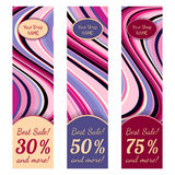 Set of Wavy Modern Banners Stock Photography