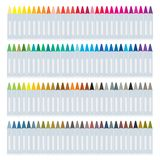 Set of Wax Crayons on White Background Stock Image