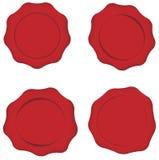 Set of Wax Seals Stock Image