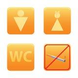 set wc för symbol Fotografering för Bildbyråer