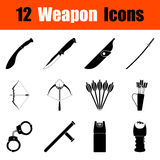 Set of weapon icons Royalty Free Stock Photography