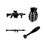 Set of weapons Stock Photos