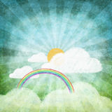 Set of weather icon drawing by chalk Royalty Free Stock Images