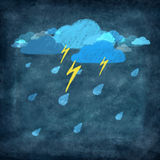 Set of weather icon drawing by chalk Stock Photo