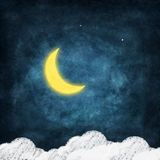 Set of weather icon drawing by chalk Stock Images