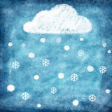 Set of weather icon drawing by chalk Stock Image