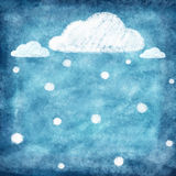 Set of weather icon drawing by chalk Royalty Free Stock Image