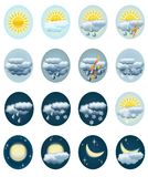 Set weather icons. Royalty Free Stock Images