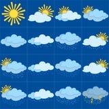 Set weather icons Royalty Free Stock Photo