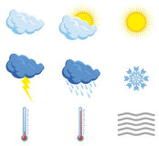 Set weather icons Stock Photography
