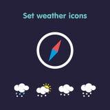 Set weather icons Royalty Free Illustration
